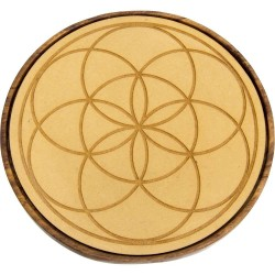 Seed of Life Wood Crystal Grid Tree of Life Journeys Reconnect with Yourself - Meditation, Law of Attraction, Spiritual Products