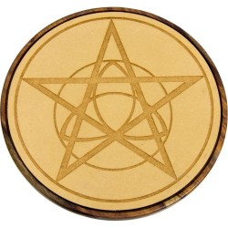 Pentacle Triquetra Wood Crystal Grid Tree of Life Journeys Reconnect with Yourself - Meditation, Law of Attraction, Spiritual Products