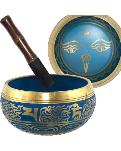 Eye of the Budha 6.5 Inch Blue Singing Bowl at Tree of Life Journeys, Reconnect with Yourself - Meditation, Law of Attraction, Spiritual Products
