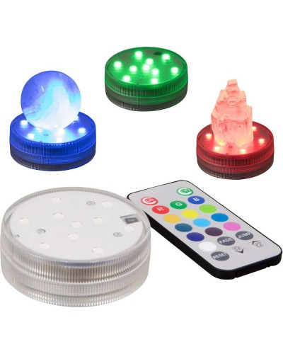 LED Waterproof Light Base with Remote at Tree of Life Journeys, Reconnect with Yourself - Meditation, Law of Attraction, Spiritual Products