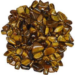 Tiger Eye Tumbled Stones - 1 Pound Bag Tree of Life Journeys Reconnect with Yourself - Meditation, Law of Attraction, Spiritual Products