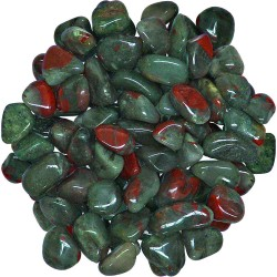 Bloodstone Tumbled Stones - 1 Pound Bag Tree of Life Journeys Reconnect with Yourself - Meditation, Law of Attraction, Spiritual Products