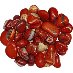Red Jasper Tumbled Stones - 1 Pound Bag Tree of Life Journeys Reconnect with Yourself - Meditation, Law of Attraction, Spiritual Products