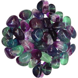 Fluorite Tumbled Stones - 1 Pound Bag Tree of Life Journeys Reconnect with Yourself - Meditation, Law of Attraction, Spiritual Products