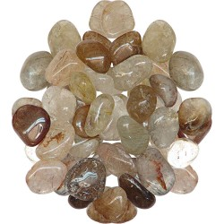 Rutilated Quartz Tumbled Stones - 1 Pound Bag Tree of Life Journeys Reconnect with Yourself - Meditation, Law of Attraction, Spiritual Products