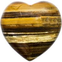 Tiger Eye Heart Stone