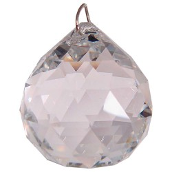 Crystal Prism Faceted Sphere Tree of Life Journeys Reconnect with Yourself - Meditation, Law of Attraction, Spiritual Products