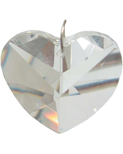 Crystal Prism Faceted Heart at Tree of Life Journeys, Reconnect with Yourself - Meditation, Law of Attraction, Spiritual Products