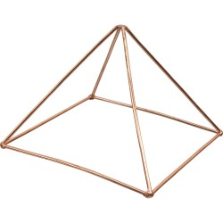 Copper Pyramid Energizer for Power Tree of Life Journeys Reconnect with Yourself - Meditation, Law of Attraction, Spiritual Products