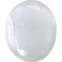 Selenite Worry Stone Tree of Life Journeys Reconnect with Yourself - Meditation, Law of Attraction, Spiritual Products