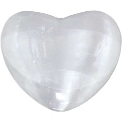 Selenite Heart Stone in 2 Sizes Tree of Life Journeys Reconnect with Yourself - Meditation, Law of Attraction, Spiritual Products