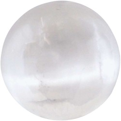 Selenite Gemstone Sphere Tree of Life Journeys Reconnect with Yourself - Meditation, Law of Attraction, Spiritual Products