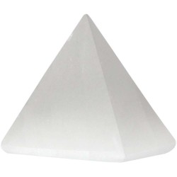 Selenite Gemstone Pyramid Tree of Life Journeys Reconnect with Yourself - Meditation, Law of Attraction, Spiritual Products