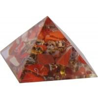 Red Jasper Root Chakra Orgone Pyramid