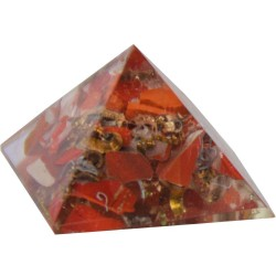 Red Jasper Root Chakra Orgone Pyramid Tree of Life Journeys Reconnect with Yourself - Meditation, Law of Attraction, Spiritual Products