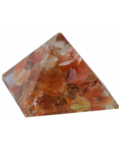Carnelian Sacral Chakra Orgone Pyramid at Tree of Life Journeys, Reconnect with Yourself - Meditation, Law of Attraction, Spiritual Products