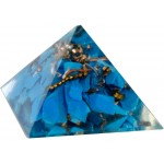 Turquoise Throat Chakra Orgone Pyramid at Tree of Life Journeys, Reconnect with Yourself - Meditation, Law of Attraction, Spiritual Products