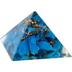Turquoise Throat Chakra Orgone Pyramid Tree of Life Journeys Reconnect with Yourself - Meditation, Law of Attraction, Spiritual Products