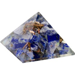 Lapis Third Eye Chakra Orgone Pyramid Tree of Life Journeys Reconnect with Yourself - Meditation, Law of Attraction, Spiritual Products