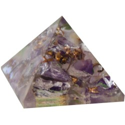 Amethyst Crown Chakra Orgone Pyramid Tree of Life Journeys Reconnect with Yourself - Meditation, Law of Attraction, Spiritual Products