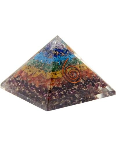 7 Chakras Orgone Pyramid at Tree of Life Journeys, Reconnect with Yourself - Meditation, Law of Attraction, Spiritual Products