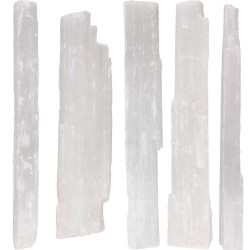 Selenite Rough Crystal Wands - 5 Pound Pack Tree of Life Journeys Reconnect with Yourself - Meditation, Law of Attraction, Spiritual Products
