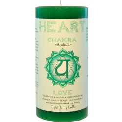 Heart Chakra Green Pillar Candle Tree of Life Journeys Reconnect with Yourself - Meditation, Law of Attraction, Spiritual Products