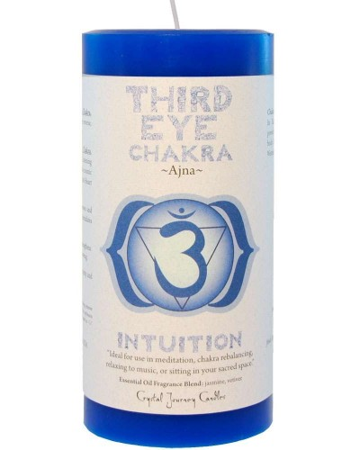 Third Eye Chakra Blue Pillar Candle at Tree of Life Journeys, Reconnect with Yourself - Meditation, Law of Attraction, Spiritual Products