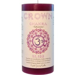 Crown Chakra Purple Pillar Candle Tree of Life Journeys Reconnect with Yourself - Meditation, Law of Attraction, Spiritual Products