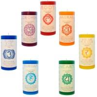 Chakra Pillar Candles - Set of 7