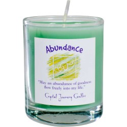 Abundance Soy Glass Votive Spell Candle Tree of Life Journeys Reconnect with Yourself - Meditation, Law of Attraction, Spiritual Products