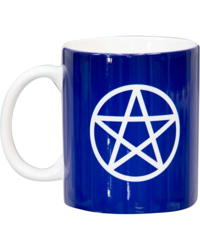 Pentacle Blue Ceramic Mug at Tree of Life Journeys, Reconnect with Yourself - Meditation, Law of Attraction, Spiritual Products