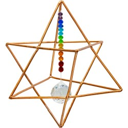 Copper Merkaba Energizer with Chakra Crystals Tree of Life Journeys Reconnect with Yourself - Meditation, Law of Attraction, Spiritual Products