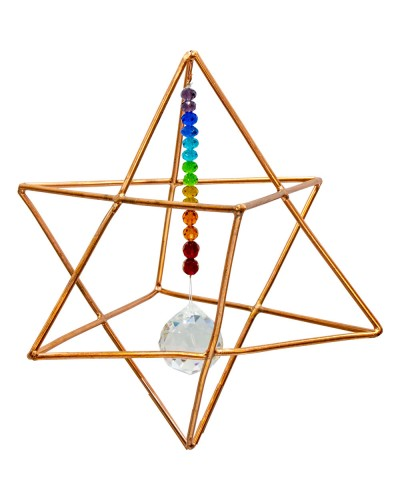 Copper Merkaba Energizer with Chakra Crystals at Tree of Life Journeys, Reconnect with Yourself - Meditation, Law of Attraction, Spiritual Products