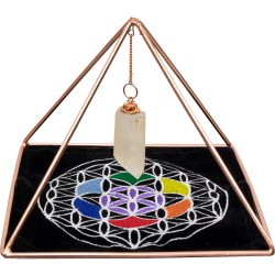 Copper Pyramid Energizer Set for Charging and Power Tree of Life Journeys Reconnect with Yourself - Meditation, Law of Attraction, Spiritual Products