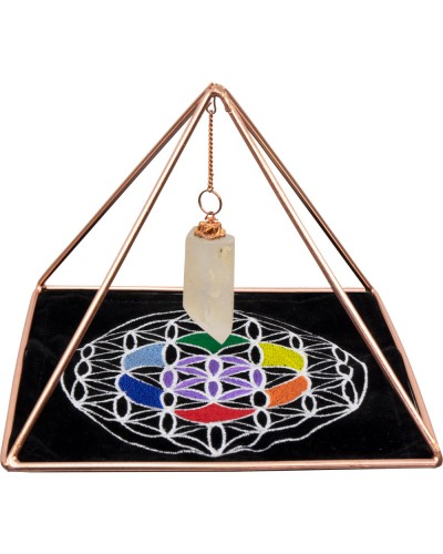 Copper Pyramid Energizer Set for Charging and Power at Tree of Life Journeys, Reconnect with Yourself - Meditation, Law of Attraction, Spiritual Products