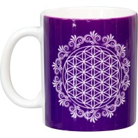 Flower of Life Purple Ceramic Mug