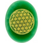 Green Aventurine Flower of Life Worry Stone at Tree of Life Journeys, Reconnect with Yourself - Meditation, Law of Attraction, Spiritual Products
