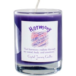 Harmony Soy Glass Votive Spell Candle Tree of Life Journeys Reconnect with Yourself - Meditation, Law of Attraction, Spiritual Products