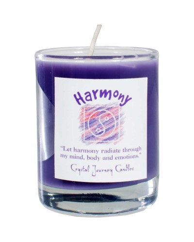 Harmony Soy Glass Votive Spell Candle at Tree of Life Journeys, Reconnect with Yourself - Meditation, Law of Attraction, Spiritual Products