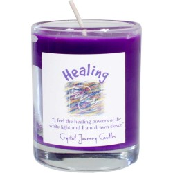 Healing Soy Glass Votive Spell Candle Tree of Life Journeys Reconnect with Yourself - Meditation, Law of Attraction, Spiritual Products