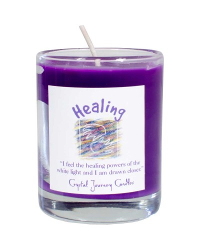 Healing Soy Glass Votive Spell Candle at Tree of Life Journeys, Reconnect with Yourself - Meditation, Law of Attraction, Spiritual Products