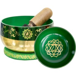 Heart Chakra Small Singing Bowl Set Tree of Life Journeys Reconnect with Yourself - Meditation, Law of Attraction, Spiritual Products