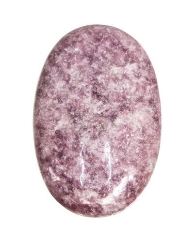 Lepidolite Palm Stone for Peace and Emotional Balance at Tree of Life Journeys, Reconnect with Yourself - Meditation, Law of Attraction, Spiritual Products