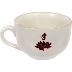 Lotus Om Cappuccino Cup Tree of Life Journeys Reconnect with Yourself - Meditation, Law of Attraction, Spiritual Products