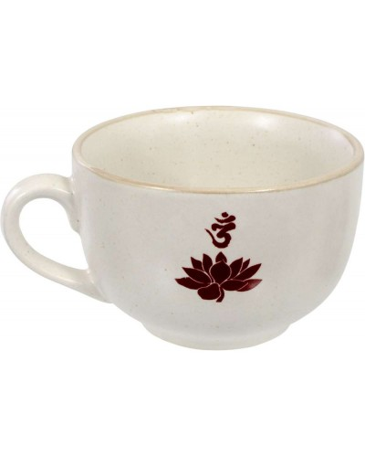 Lotus Om Cappuccino Cup at Tree of Life Journeys, Reconnect with Yourself - Meditation, Law of Attraction, Spiritual Products