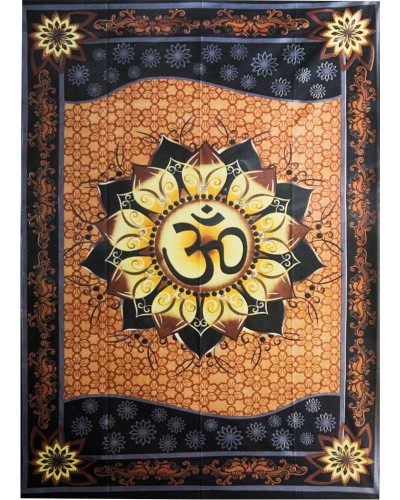 Om Lotus Tapestry at Tree of Life Journeys, Reconnect with Yourself - Meditation, Law of Attraction, Spiritual Products