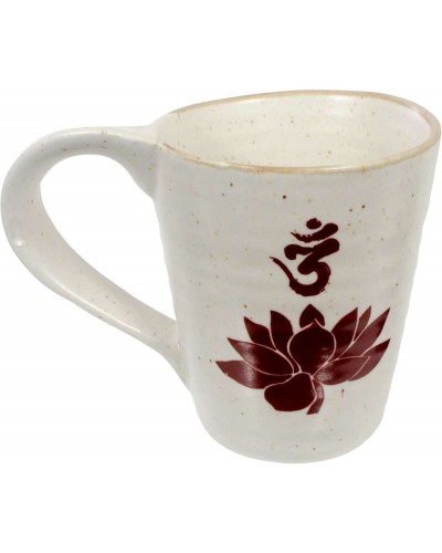 Lotus Om 10 oz Ceramic Mug at Tree of Life Journeys, Reconnect with Yourself - Meditation, Law of Attraction, Spiritual Products