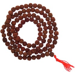 Rudraksha Mala Prayer Beads Tree of Life Journeys Reconnect with Yourself - Meditation, Law of Attraction, Spiritual Products