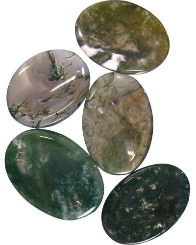 Moss Agate Worry Stone at Tree of Life Journeys, Reconnect with Yourself - Meditation, Law of Attraction, Spiritual Products